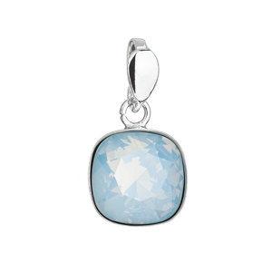 Strieborný prívesok s krištálom Swarovski modrý štvorec 34224.7 blue opal