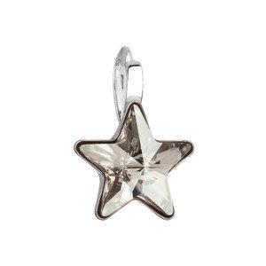 Strieborný prívesok s krištálom Swarovski šedá hviezdička 34226.5