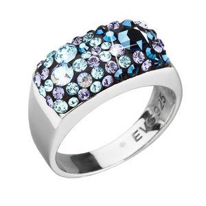 Strieborný prsteň s krištáľmi Swarovski modrý 35014.3 blue style
