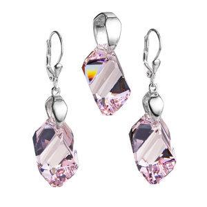 Sada šperkov s krištáľmi Swarovski náušnice a prívesok fialová 39050.3