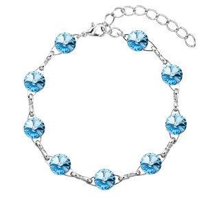 Náramok bižutéria so Swarovski krištáľmi modrý 53001.3 aqua