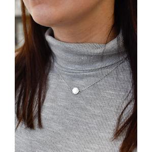 Strieborný náhrdelník s krištálmi Swarovski biely okrúhly 72054.1