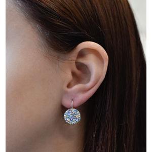 Sada šperkov s krištálmi Swarovski náušnice a prívesok zlato modré okrúhle 79042.3