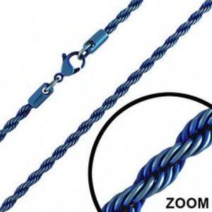 Šperky eshop - Anodizovaná oceľová retiazka - keltské lano v tmavomodrej farbe Y39.6