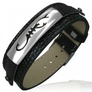 Šperky eshop - Hodinkový náramok v štýle hadej kože so škorpiónom G18.20