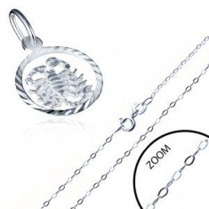 Šperky eshop - Lesklá strieborná retiazka 925 s príveskom znamenia ŠKORPIÓN AA33.08