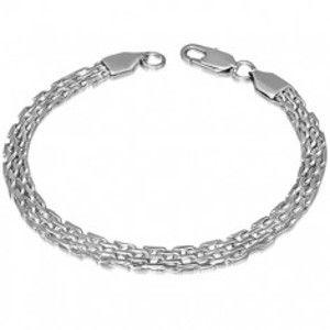 Šperky eshop - Náramok na ruku z ocele - strieborná farba, hadí vzor AC12.3
