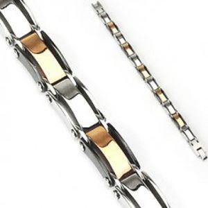 Šperky eshop - Náramok z chirurgickej ocele s farebnými článkami O7.6