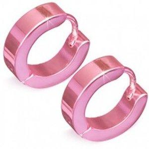 Šperky eshop - Náušnice z ocele 316L ružovej farby, hladký a lesklý povrch S85.20