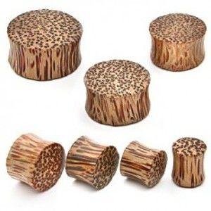 Šperky eshop - Plug do ucha - kokosové drevo N1.31 - Hrúbka: 22 mm