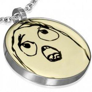 Šperky eshop - Prívesok z ocele - TIMOROUS MEME FACE AA26.31
