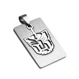 Šperky eshop - Prívesok z ocele známka - Tiger W22.38