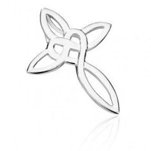 Šperky eshop - Prívesok zo striebra 925 - prepletaná línia kríža Y43.4