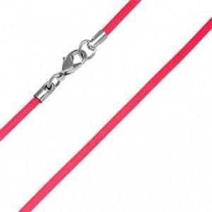 Šperky eshop - PVC gumená šnúrka na krk - červená, 2 mm O2.7