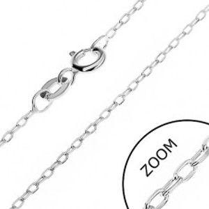 Šperky eshop - Retiazka zo striebra 925 - hladké kolmo uchytené ovály, 1,5 mm AB18.10