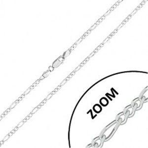 Šperky eshop - Retiazka zo striebra 925 - vzor Figaro, ligotavé zrezané hrany, 2,7 mm R44.29