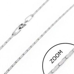 Šperky eshop - Reztiazka zo striebra 925 - hranatý pás oválov, 1 mm AB24.15
