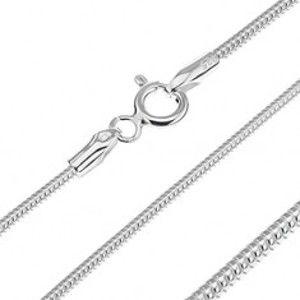 Šperky eshop - Strieborná retiazka 925 - článkovaný had, 1,4 mm AA11.04