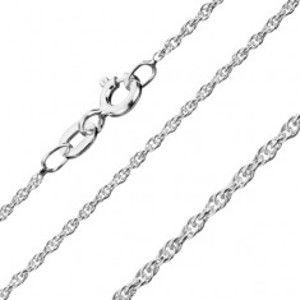 Šperky eshop - Strieborná retiazka 925 - jemné zatočené očká, 1,3 mm AA10.19