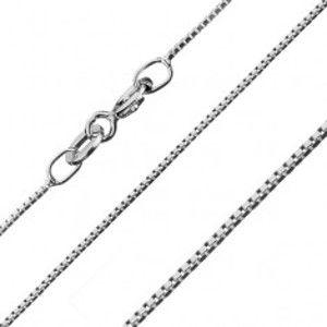 Šperky eshop - Strieborná retiazka 925 - malé spojené kocky, 0,7 mm AA18.19