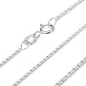 Šperky eshop - Strieborná retiazka 925 - prepojené lesklé kocky, 1 mm AA18.15