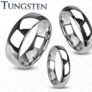 Šperky eshop - Tungstenový prsteň - hladká lesklá obrúčka striebornej farby, 8 mm Z38.17 - Veľkosť: 67 mm